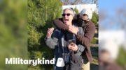 Navy diver wraps mom in surprise hug | Militarykind 4