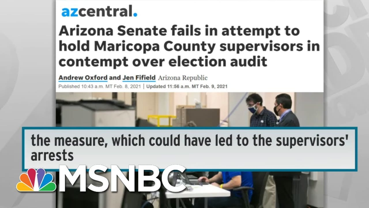 Republican Freakout Over 2020 Election Losses Sparks War On Voting In Several States   Rachel Maddow 1