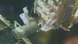 Watch these NASA astronauts take a spacewalk outside of the ISS 7