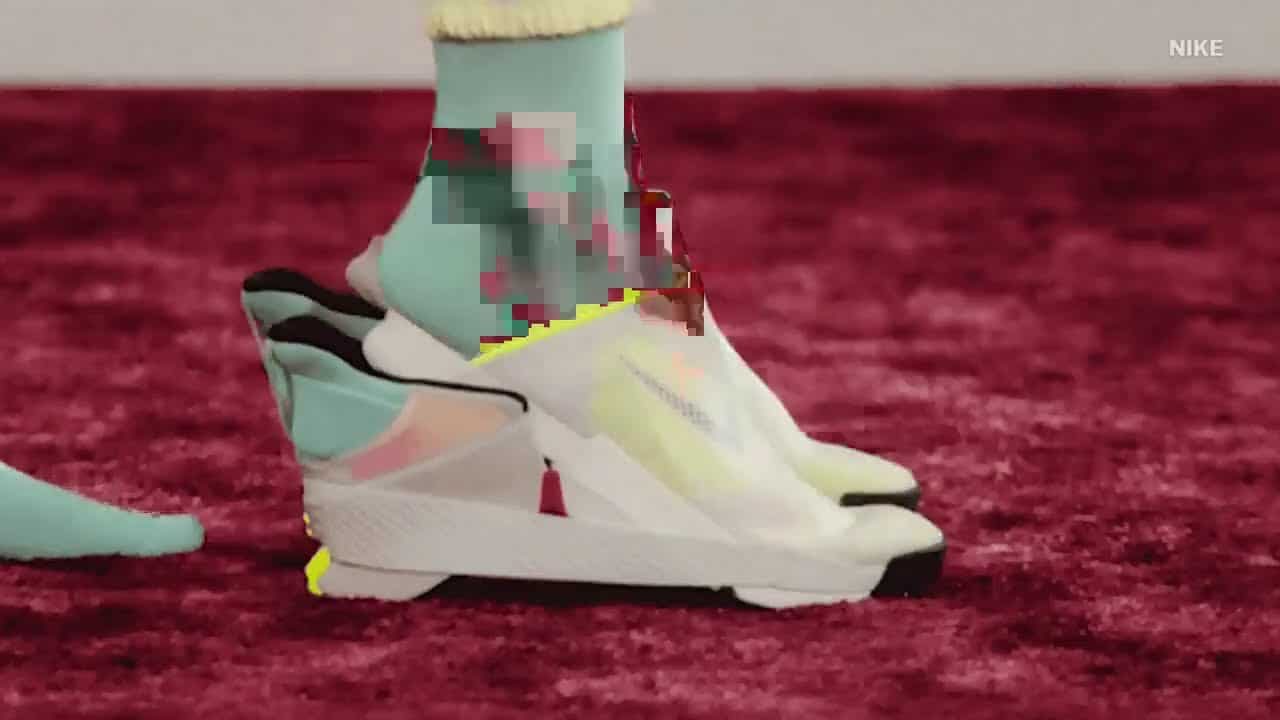 Here's a look at Nike's first ever 'hands-free' shoe for customers who can't be bothered with laces. 4