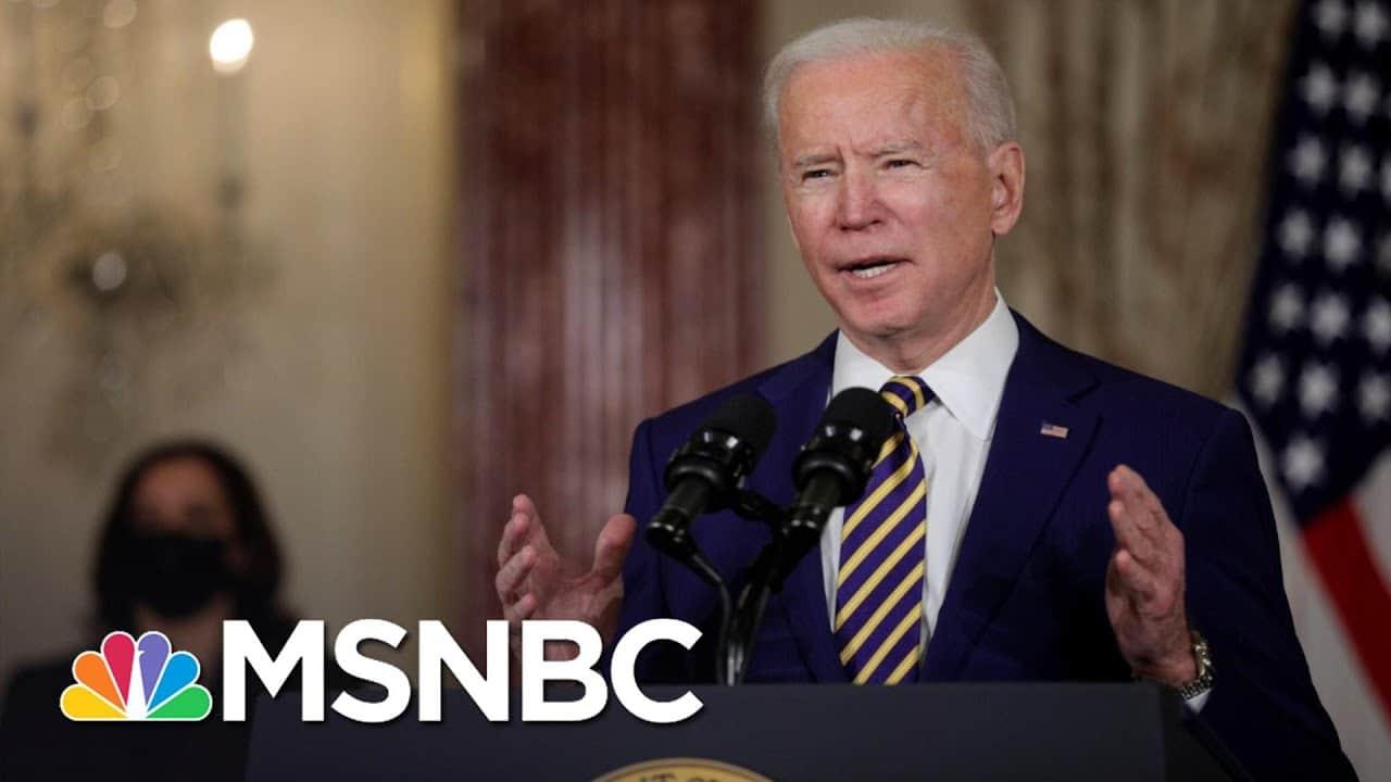 'America Is Back': Biden Ends 'America First' Trump Agenda   The 11th Hour   MSNBC 1