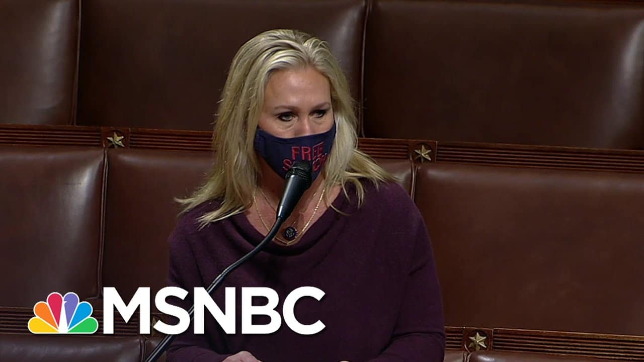 Greene Makes Fool Of McCarthy Denying Her Space Laser Theory | Rachel Maddow | MSNBC 1