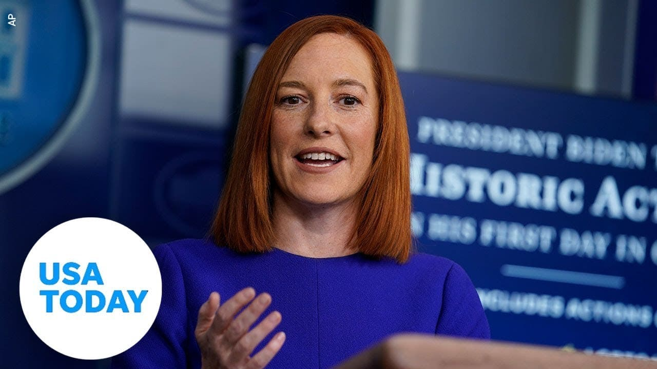 Jen Psaki holds White House Briefing Friday | USA Today 1