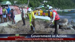 GOVERNMENT IN ACTION - Soufriere Berthing Jetty 7