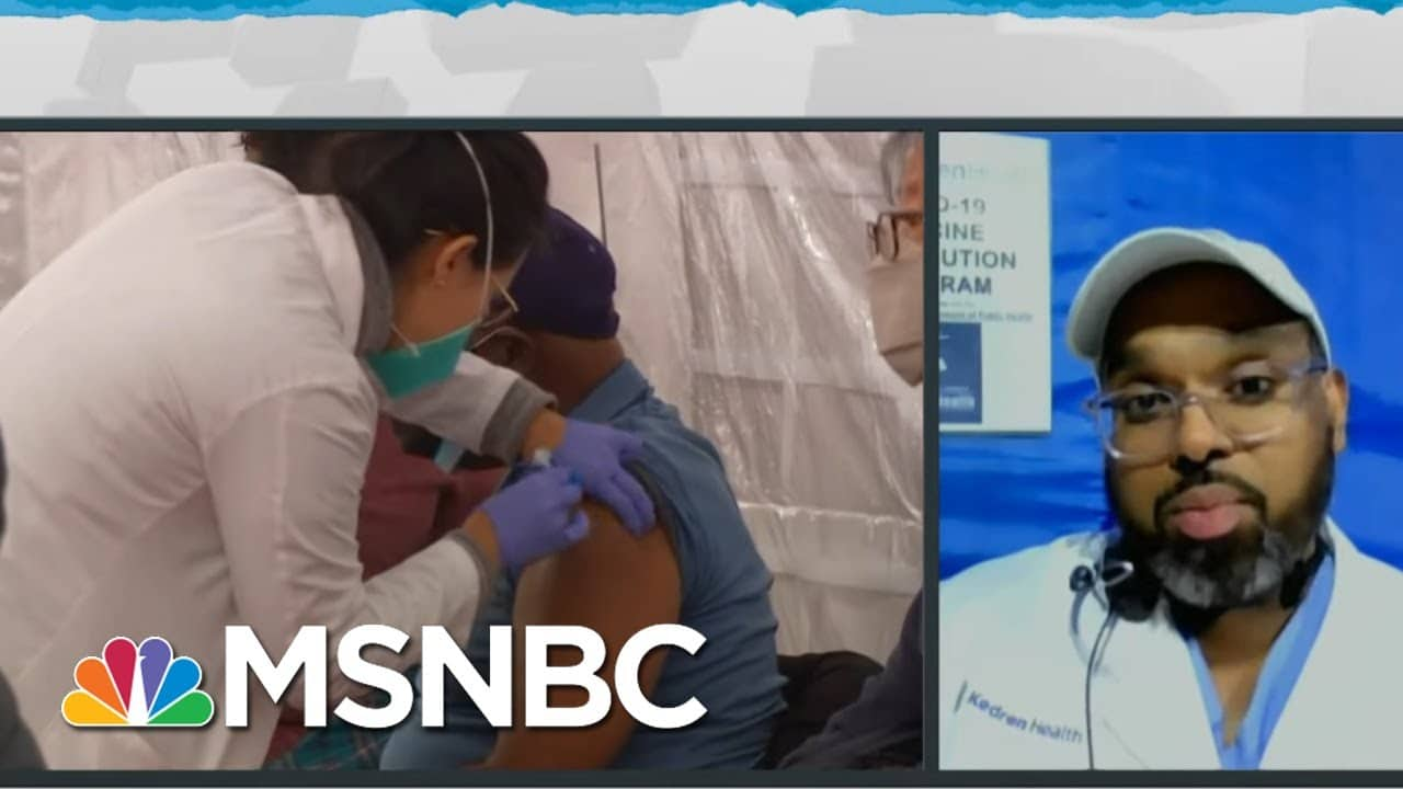 Removing Barriers Is Key To Getting Vaccine To Underserved Communities | Rachel Maddow | MSNBC 5