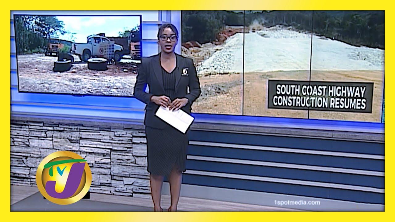 Jamaica's South Coast Highway Construction Resumes - February 8 2021 1