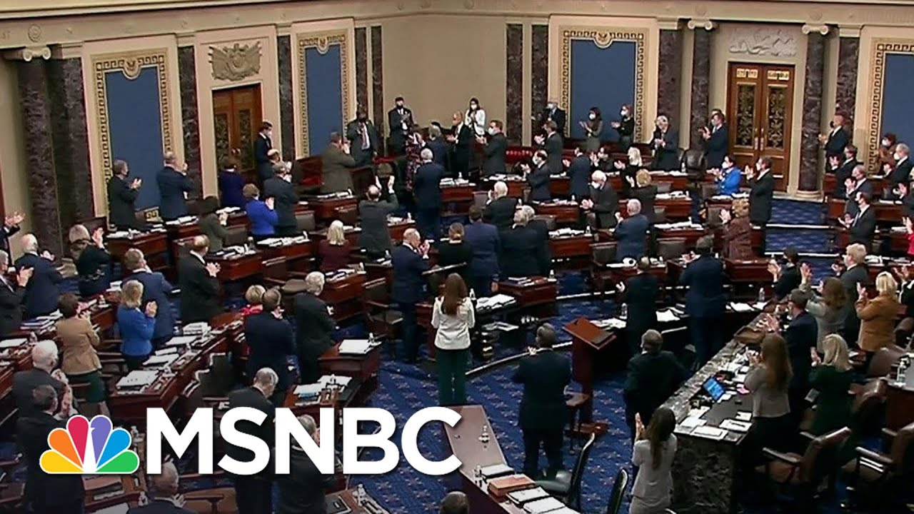 Senate Applauds Officer Eugene Goodman, Will Award Him Congressional Gold Medal | MSNBC 1