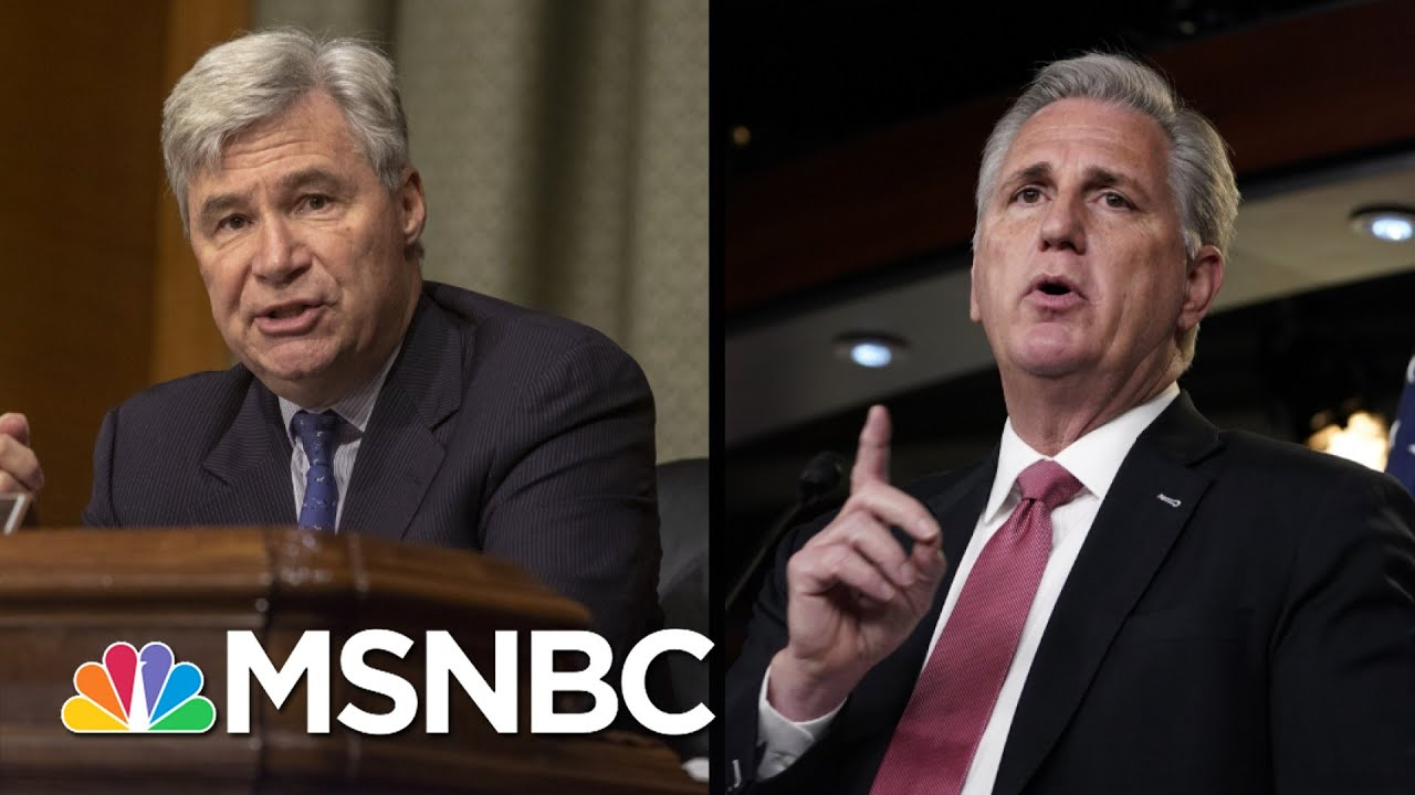 Sen. Whitehouse: Suspend Trial To Depose McCarthy And Tuberville | The 11th Hour | MSNBC 3