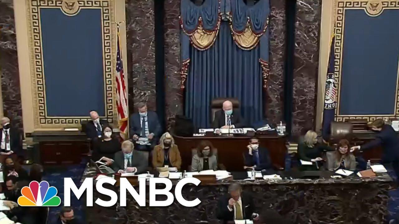 Second Trump Impeachment Tests GOP Senators' Loyalty To Mike Pence | Rachel Maddow | MSNBC 2