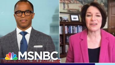 Sen. Klobuchar Applauds House Managers For Most Bipartisan Impeachment Trial Vote In History | MSNBC 6