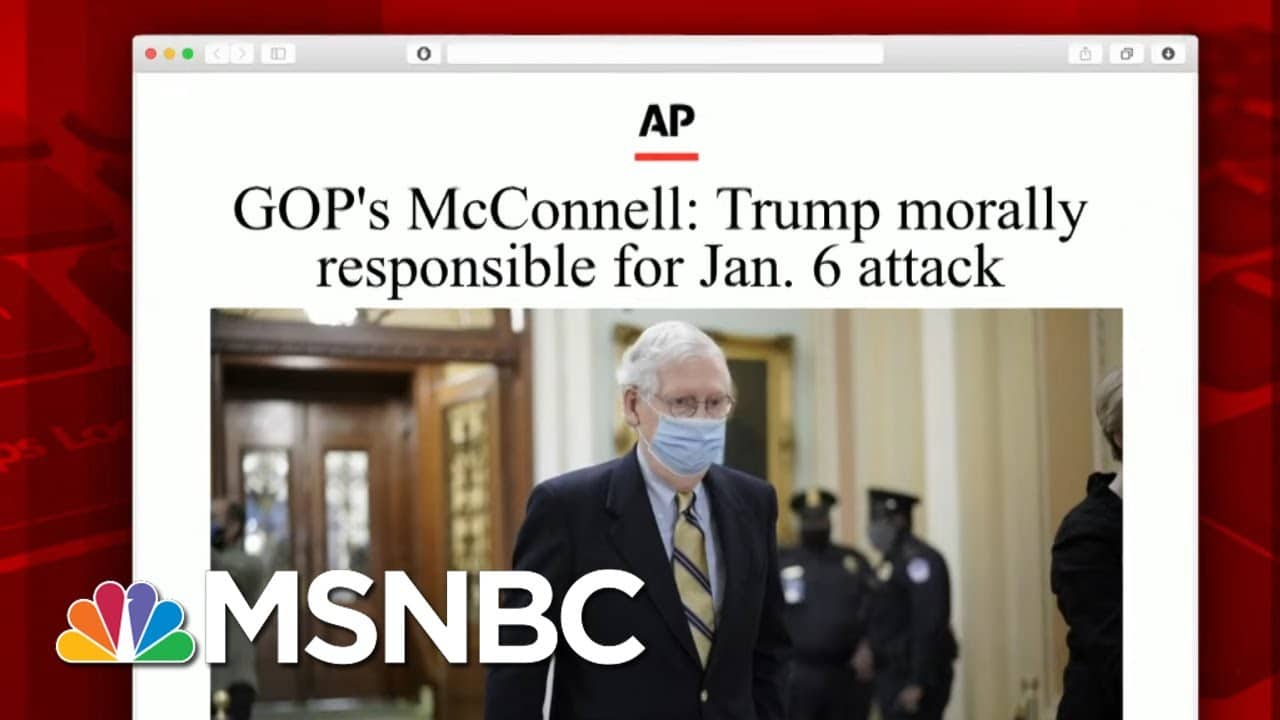 What GOP Who Voted To Convict Had To Say About Their Decision | Morning Joe | MSNBC 6