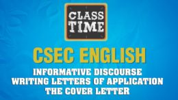 CSEC English - Informative Discourse - Writing Letters of Application - The Cover - February 25 2021 9
