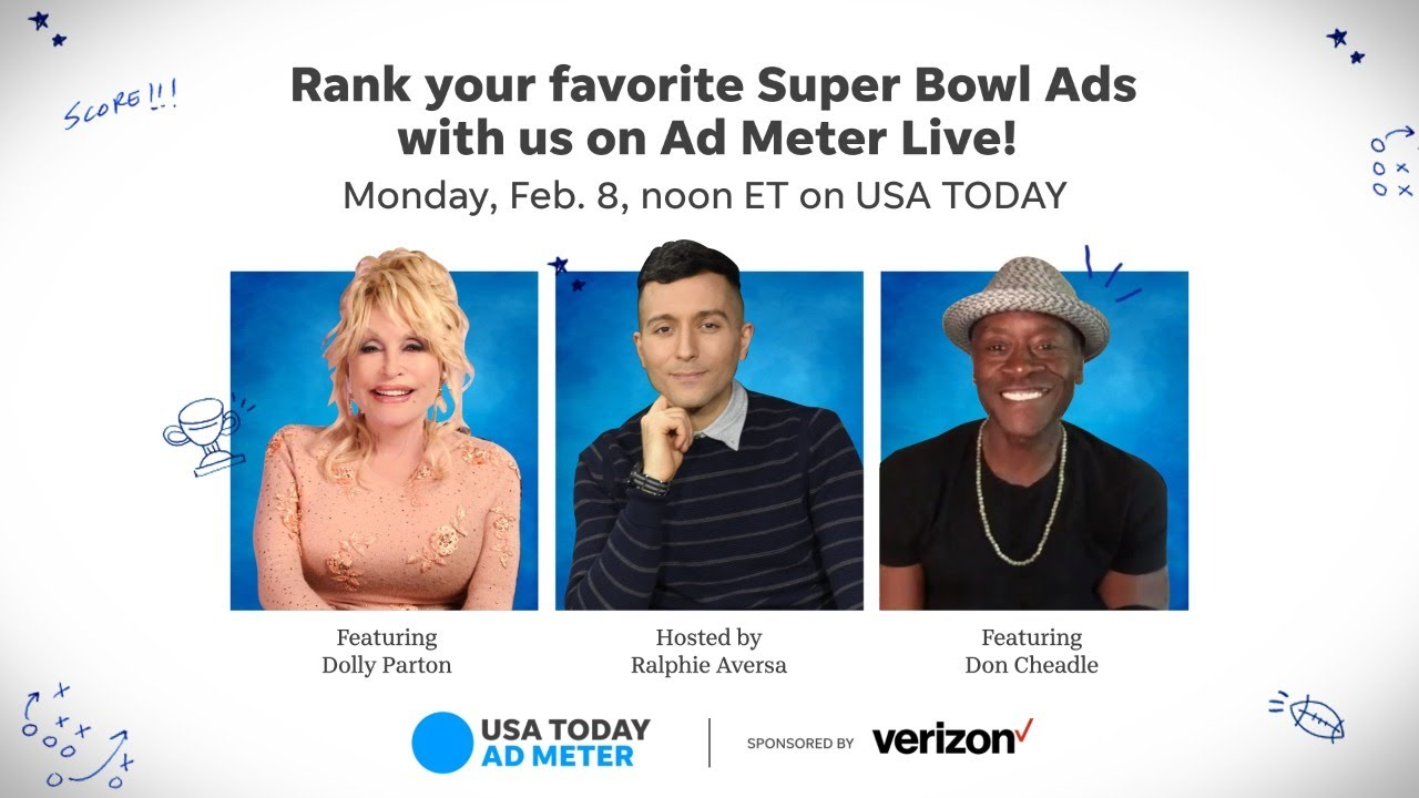 Rank your favorite Super Bowl commercials with us on Ad Meter Live   USA TODAY 5