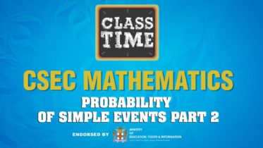 CSEC Mathematics - Probability of Simple Events Part 2 - February 9 2021 6