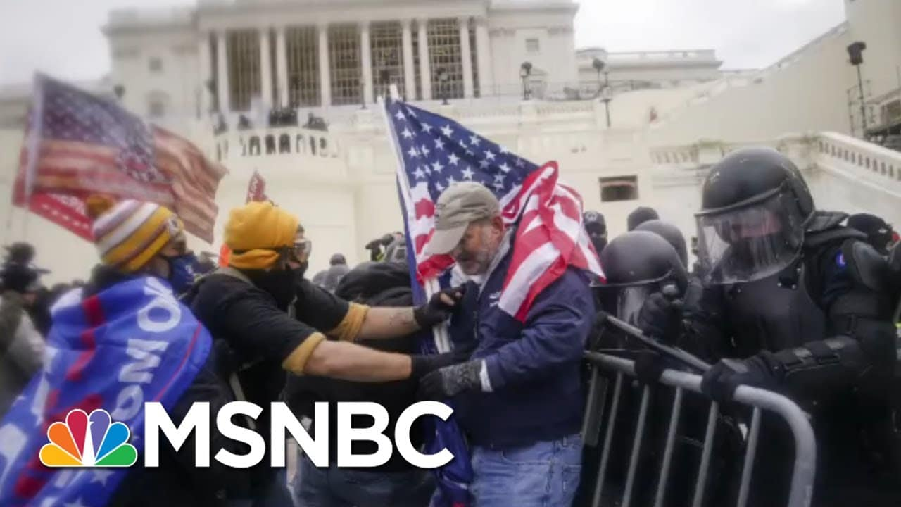 Shocking New Video Of Moment Officer Sicknick Was Attacked At Capitol Riot | All In | MSNBC 1