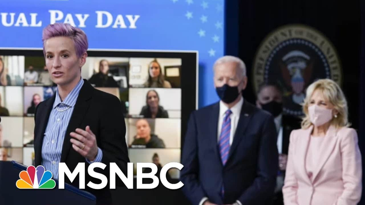 Bidens And Megan Rapinoe Mark Equal Pay Day | The 11th Hour | MSNBC 1