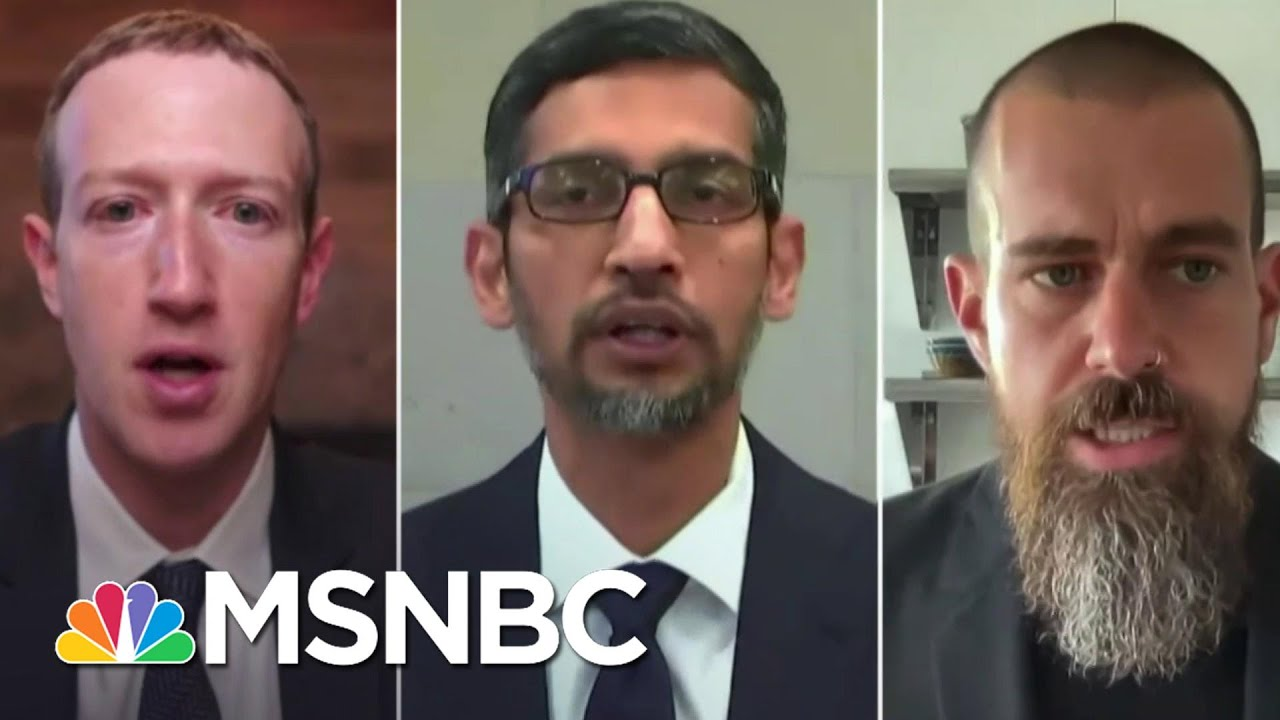 Tech CEOs Testify About Misinformation On Their Platforms Around Insurrection | Ayman Mohyeldin 1