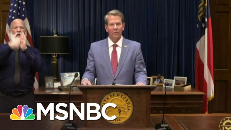 Georgia's Voting Bill Makes Water An Illegal Substance | The 11th Hour | MSNBC 1