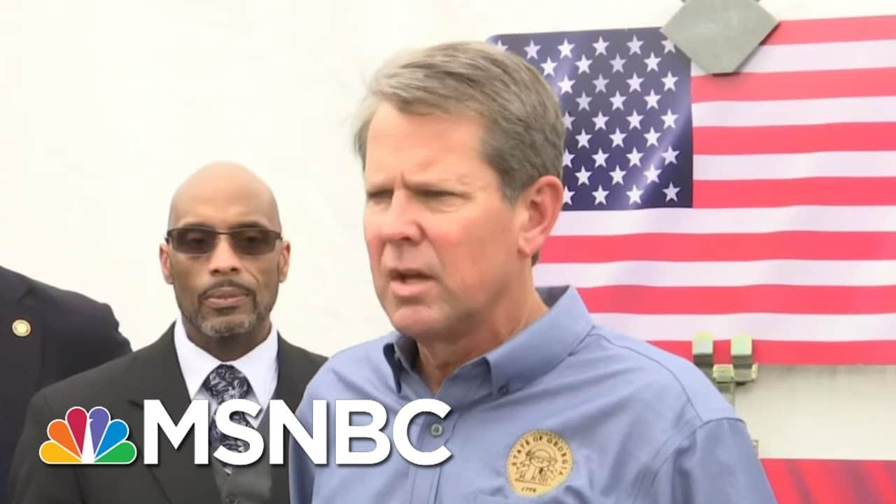 Georgia Governor Offended That Racist Anti-Voter Law Is Being Called Racist   All In   MSNBC 1