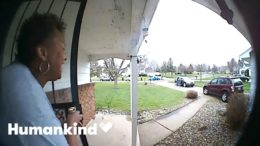Sneaky birthday surprise caught by doorbell camera | Humankind 5