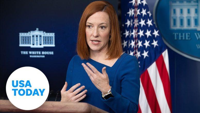 Jen Psaki, press secretary, holds White House press briefing.   USA TODAY 1