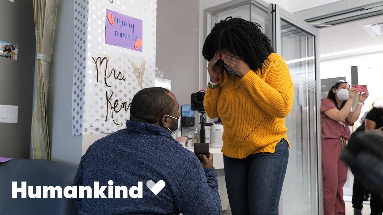 NICU nurses help dad pop the question | Humankind 6