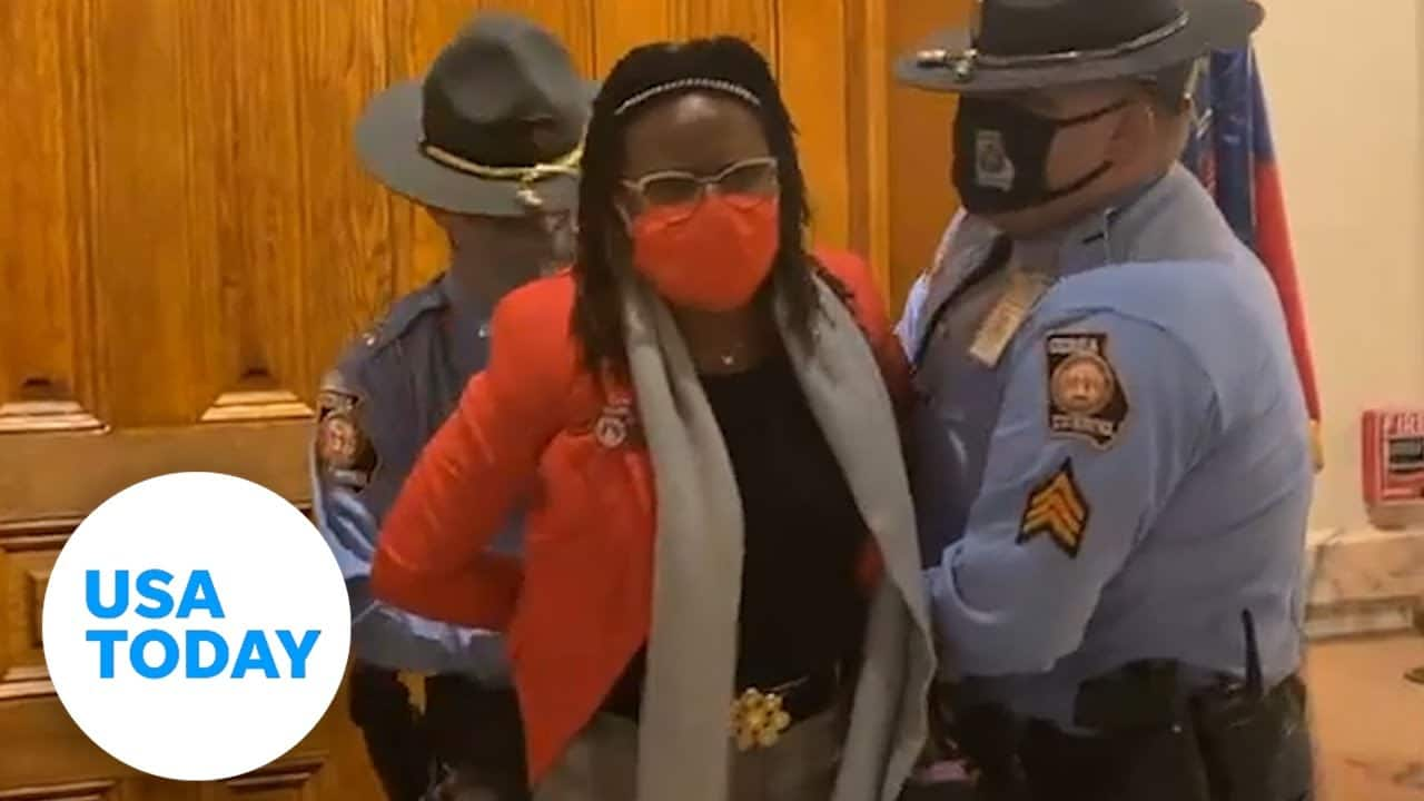 GA lawmaker arrested protesting voting bill | USA TODAY 1