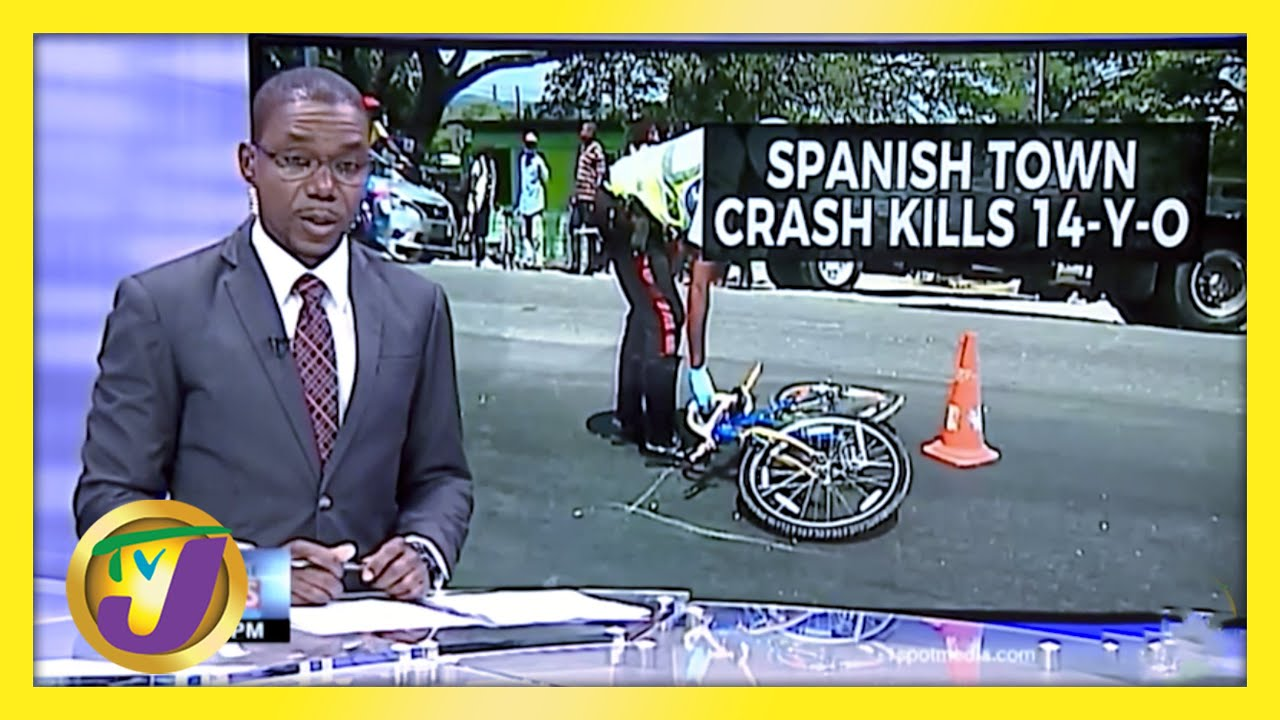 Crash kills 14 yr old in Spanish Town Jamaica | TVJ News - March 3 2021 1