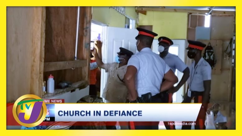 Police Swarm Church in Defiance of Covid Measures in Jamaica | TVJ News - March 3 2021 1
