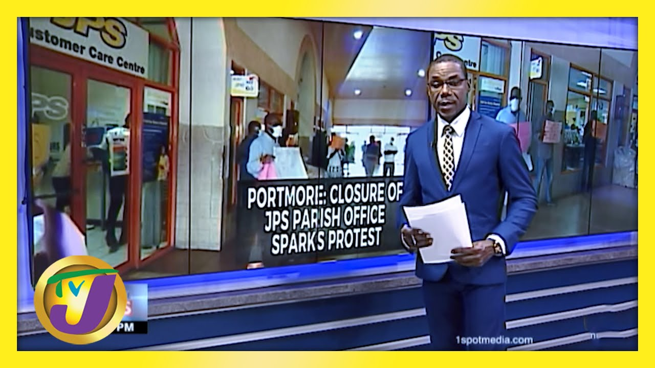 JPS Portmore Office Closure Sparks Protest   TVJ News - March 4 2021 1