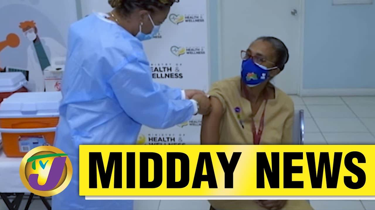 1st Jamaican to Receive Covid-19 Vaccine - March 10 2021 1