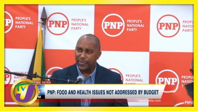 PNP: Food & Health Issues not Addressed by Budget | TVJ News - March 24 2021 1