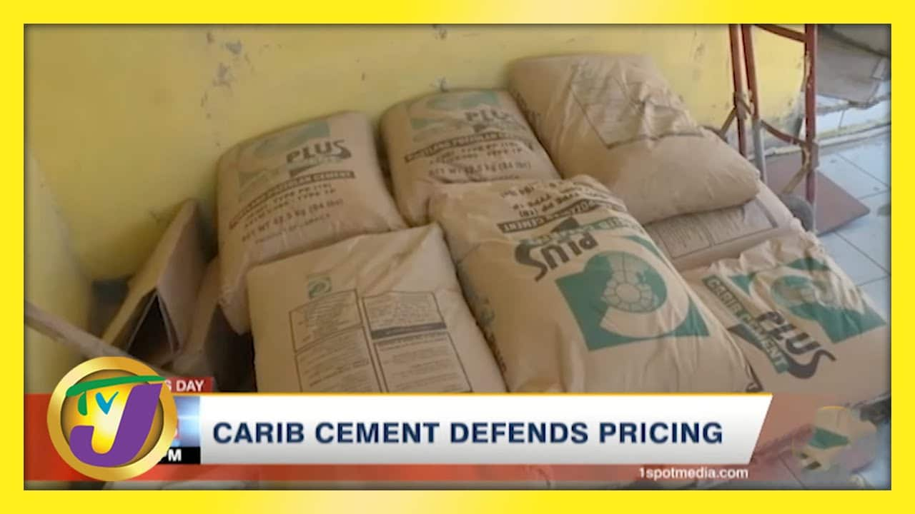 Carib Cement Defends Pricing   TVJ Business Day - March 25 2021 1