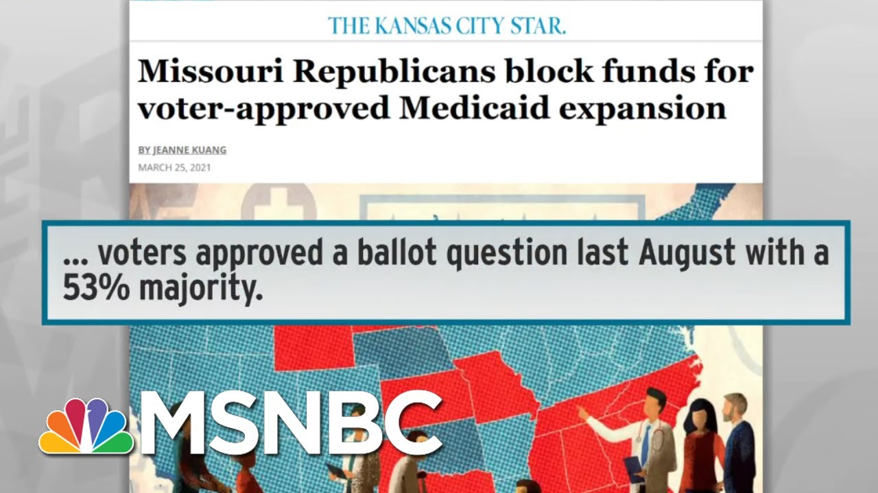 Missouri Republicans Refuse To Honor Vote On Medicaid Expansion | Rachel Maddow | MSNBC 1