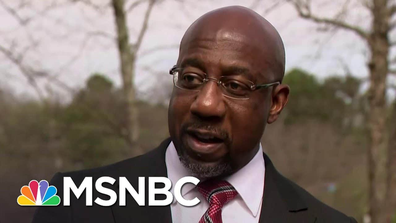 Warnock Outlines What's At Stake In Republican War On Democracy   Rachel Maddow   MSNBC 1