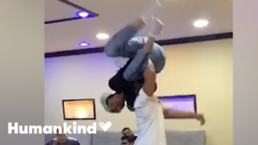 Friends wrap man in bear hug in this epic reunion | Humankind 6