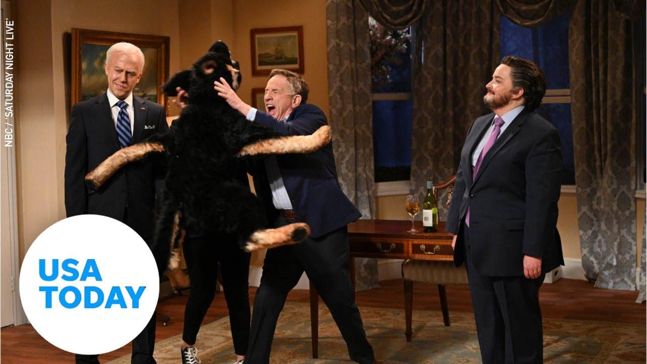 Martin Short's Doug Emhoff gets mauled by Biden's dog Major on 'SNL' | USA TODAY 1