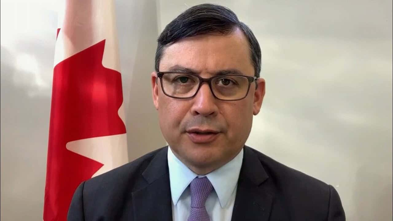 Conservative MP Michael Chong reacts after being sanctioned by China 3