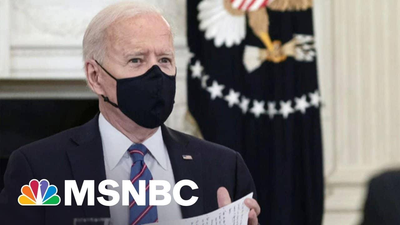 Majority Approves Of Biden's Coronavirus Vaccine Response | Morning Joe | MSNBC 1