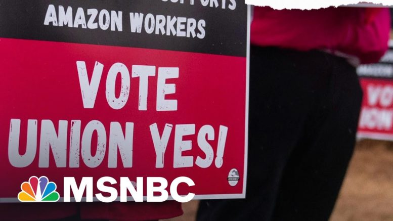 'Economic Selma': Amazon Workers In Bessemer Vote On Unionization   The ReidOut   MSNBC 1
