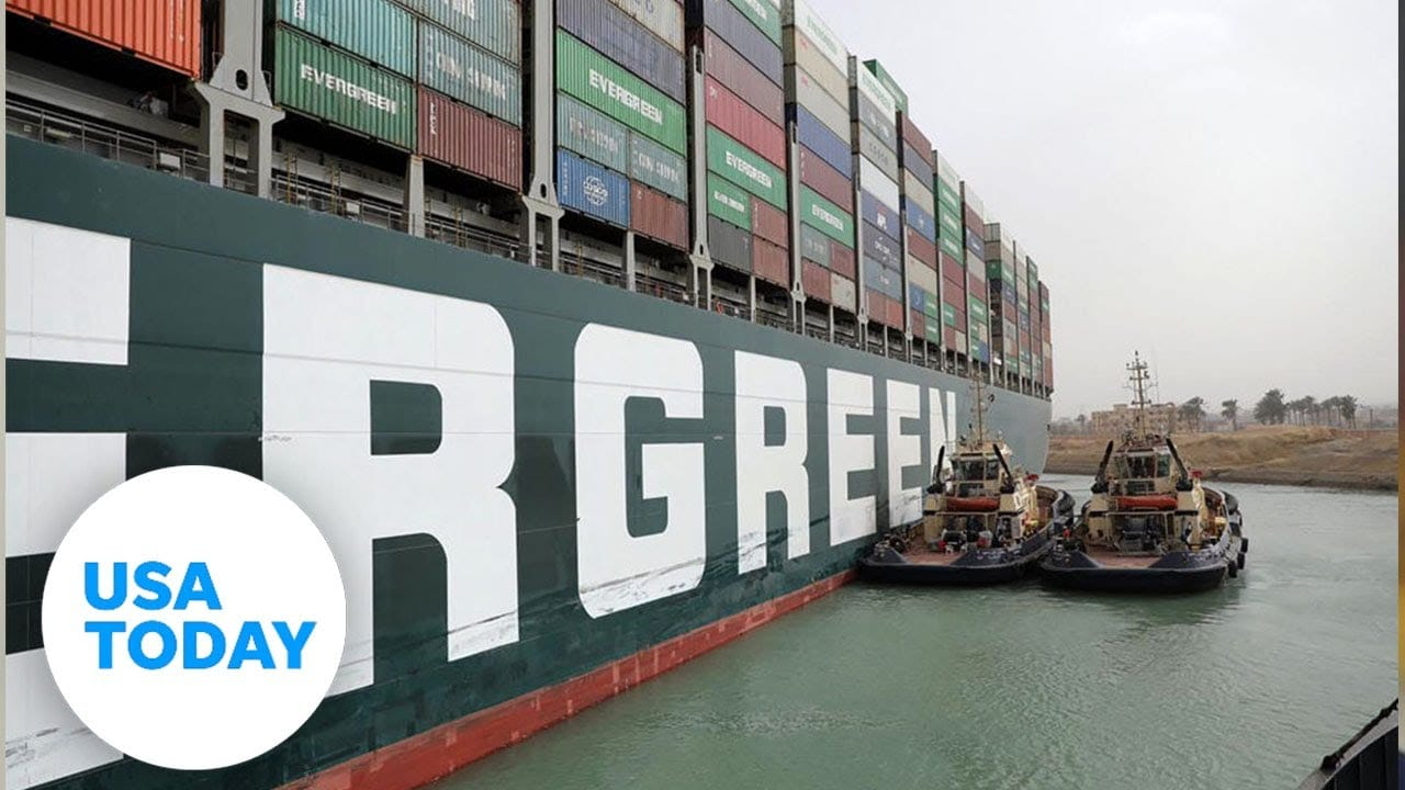 Container ship set free after days stuck in Suez Canal, canal service says | USA TODAY 1