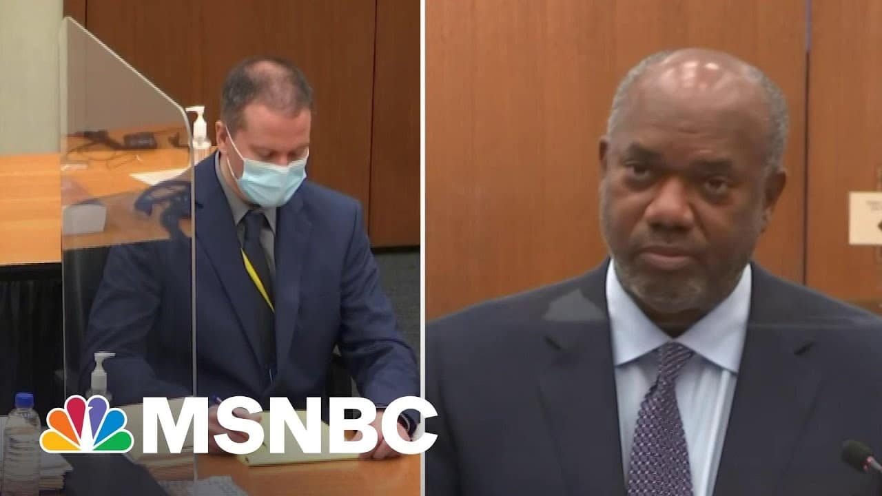Chauvin Witness: My Black Dad, Brothers Could Have Been George Floyd   MSNBC 1