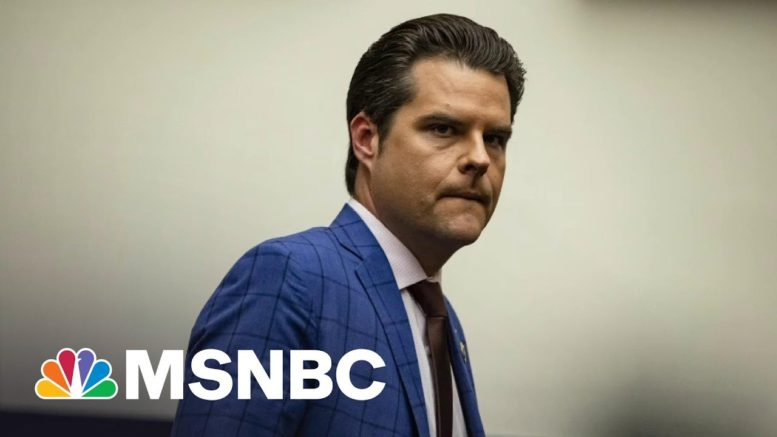 NYT: Justice Department Investigating Rep. Gaetz Over Sex Trafficking Claim | All In | MSNBC 1