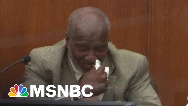 Witness Breaks Down On Stand Watching Floyd Repeatedly Say 'I Can't Breathe' | Katy Tur | MSNBC 1