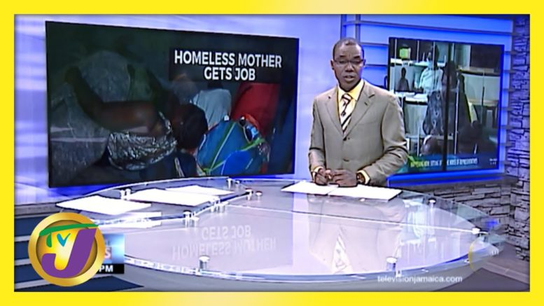 A Homeless Mother in Kingston Jamaica now has a Job | TVJ News - March 30 2021 1
