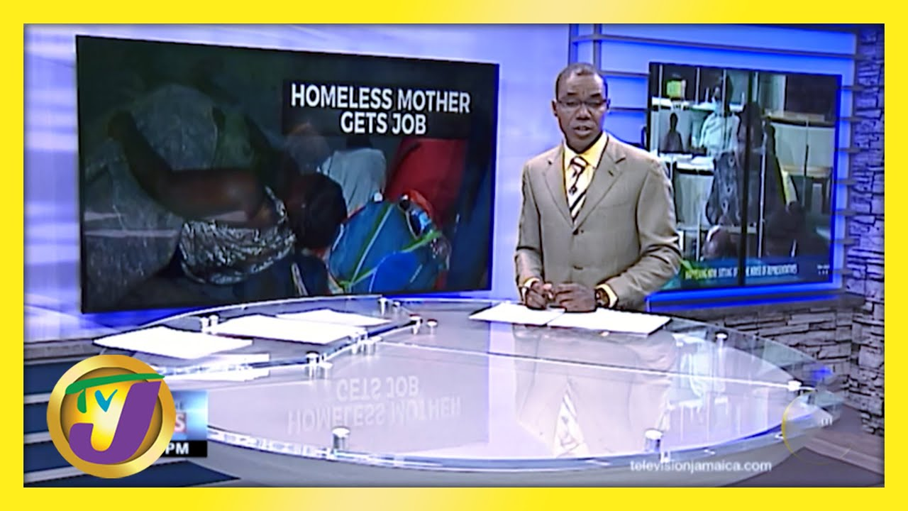 A Homeless Mother in Kingston Jamaica now has a Job   TVJ News - March 30 2021 3