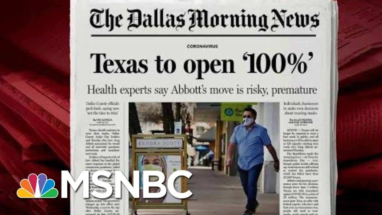 Spurs Coach, Houston Mayor Critical Of Texas Governor's Move To Open State | Morning Joe | MSNBC 1