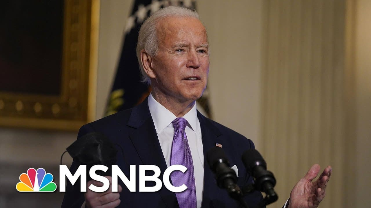 Biden Backs Lower Income Cap For Direct Payments In Covid Relief Package | Craig Melvin | MSNBC 6