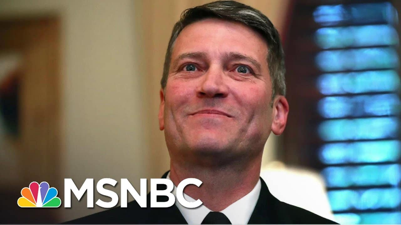 New Report Finds Ex-Trump White House Doctor Drank On The Job, Abused Staff | All In | MSNBC 1