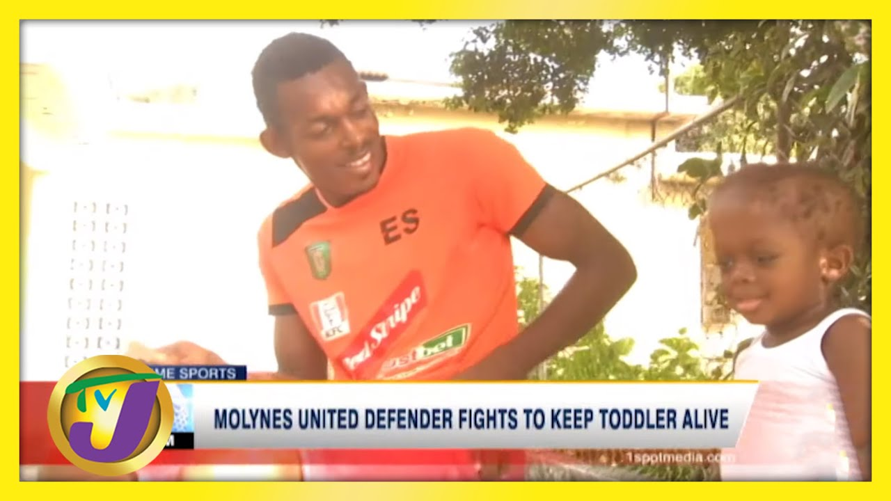 Jamaican Football Defender Fights to Keep Son Alive | TVJ Sports - March 2 2021 1